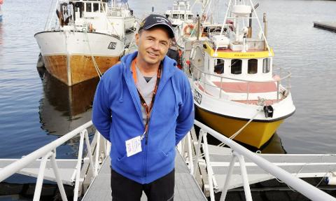 MESSESJEF: Odd Petter Olderskog Leknes, her i forbindelse med en reportasje i forkant av Båtmessa 2019.