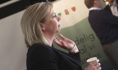 Hvem er vi? Leder av fellesnemnda, og ordfører i Sande, Elin Gran Weggesrud, ønsker at man skal jobbe med å finne den nye kommunens identitet.arkivfoto