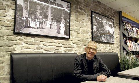 SER LYSERE UT: Økonomien for Holmestrand Museum ser langt bedre ut, etter at Jan Gunnar Flannum har blitt tatt i mot med åpne armer. Her fra Shell-stasjonen i sentrum. Foto: Lars Ivar Hordnes
