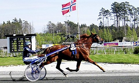 Langer ut i starten: – Bildet er fra starten på Sørlandet i 2009 med Geir Vegard Gundersen i vogna, kan Knut Engen opplyse. Foto: Privat