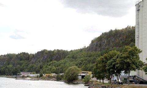 Stedet: Det er i området her sør for Felleskjøpet at Noah ønsker å etablere sin nye kai.