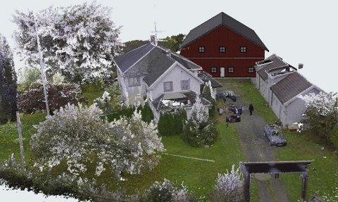 Sånn skal det bli: Andre Høvik i Spatec planlegger å bygge et lagerbygg som ser ut som en låve på gården på Husebysletta.