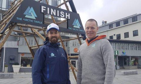 Klare: Kristian Nashoug og Frank Hagen er godt forberedt foran årets Lofoten Ultra-Trail.Foto: Kristian Rothli
