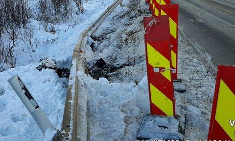 KRAV: Nå har Statens vegvesen sendt krav om erstatning etter at en trailer ødela autovernet.