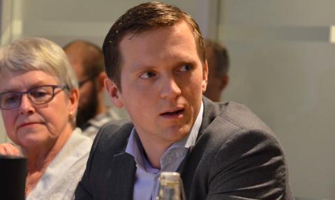 IKKE VEDTAK: Mathias Bernander og Høyre ville drøfte veiprising av E39, ikke vedta det over bordet. Han fikk flertall for det.