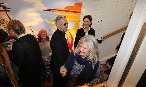 Ari Behn, Per Heimly, Tor Rafael Raael og Mikael Persbrandt åpner utstilling i Ås lørdag. Her er Behn fra utstillingen han åpnet i Son tidligere i mars.
