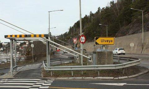 Det var på Mosseveien i nærheten av avkjøringen til Ulvøya dødsulykken skjedde. Arkivfoto