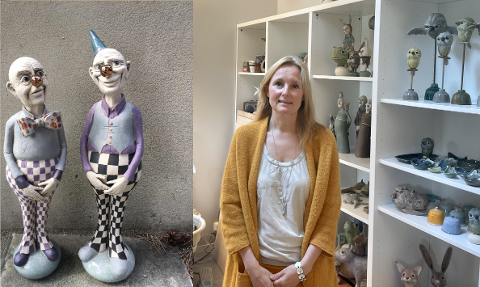 Anne Schou jobbet i barnehage helt til hun begynte å drive med keramikk på fulltid.