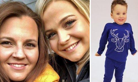 GRÜNDER-SØSTRE: Fredag lanserte Johanne Marie (27, tv) og Karoline Olaussen (19) fra Nordreisa sitt eget klesmerke «Illu» for barn.