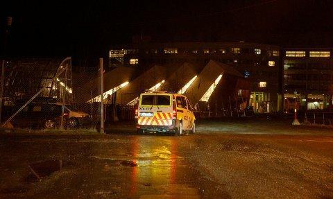 PÅGREPET: Mannen ble pågrepet ved Sørsjeteen i Tromsø like etter klokka 18.30 onsdag kveld.