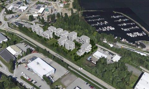 BOLIGBLOKKER: OA-huset kan bli erstattet av 150 leiligheter fordelt på 14 blokker.