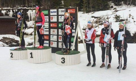Tuva Bakkemo (helt til høyre) på sjetteplass