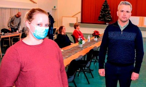 MØTTES: Sykepleier Ann-Kristin Granerud Buskum og kollegaene hennes har fått skriftlig svar fra posisjonen og hatt møter med ordfører Bror Helgestad.