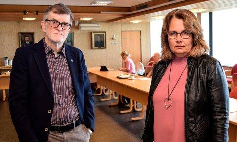 ENIGE: Rådmann Arne Skogsbakken og ordfører Anne Hagenborg er enige om at ekstern bistand er nødvendig for å «skaffe legitimitet» til kommunens oppfølging etter Satsforvalterens tilsyn ved Hovli sykehjem.