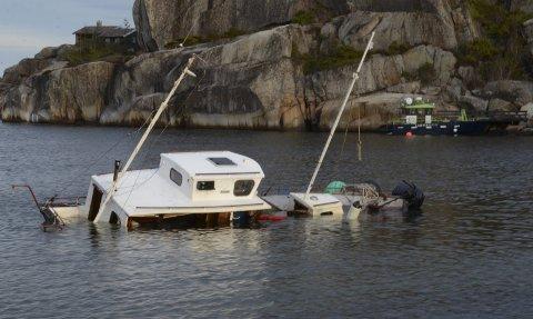 Båtvraket ved Sør i Ommane er nå fjernet.