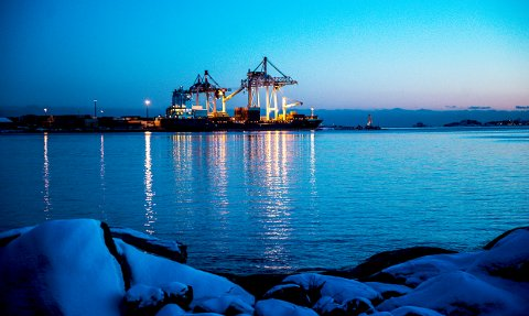 FOLKET SIER JA: Larvik Havn bør fortsette med konteinervirksomheten. Det mener et klart flertall av de spurte i ØPs ferske meningsmåling.