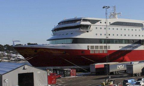 LANGESUND: Fjord Line har fraktet mer gods fra Langesund til Vestlandet denne vinteren.