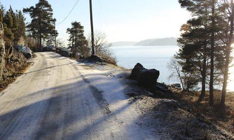 SMAL: Strekningen på Bjønnesvegen forbi Rambergstranda er såpass smal at det er umulig for to biler å passere hverandre.