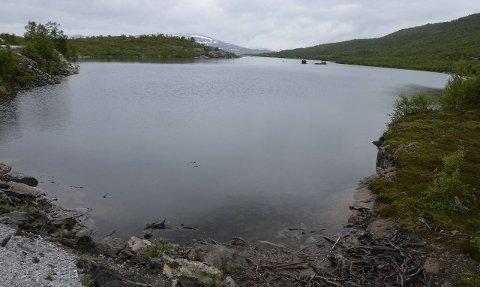 NESTEN FULLT: Akersvatnet er nesten fullt, selv om Rana kraftverk til Statkraft går for fullt. Kommer det mye regn med økt snøsmelting i høyden kan det bli overløp på Akersvassdammen og betydelig økt vannføring i Akerselva og Dalselva.Foto: Arne Forbord