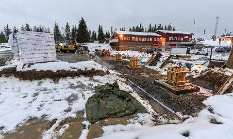 Ishall: Bossmo & Ytterens nye anlegg på Skillevollen før det sto ferdig.Foto: Øyvind Bratt