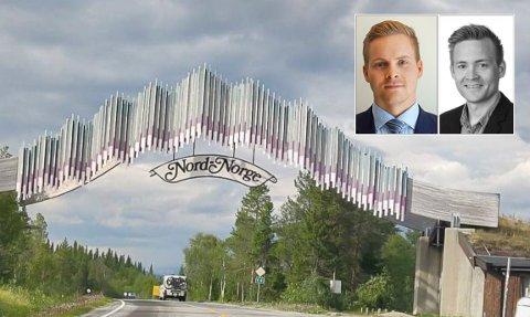 SNEVERT: Å blande inn Porten til Nord-Norge nåværende betydning med nordområdemeldinga som er i prosess, mener Jan Mikael Westerfjell (t.v) og Lars-Jonas Westerfjell (t.h.) blir for snevert.