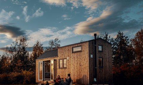 Kan bli et vanlig syn på Sjusjøen: Et firma i Bærum ønsker å tilby utleie av mikrohytter på Sjusjøen.