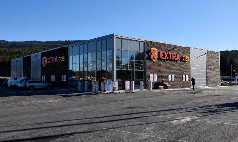 NY: Slik ser den nye matbutikken på Nes ut fra utsiden.