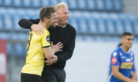 TENKER SEIER: LSK-trener Jörgen Lennartsson (t.h.) og Arnor Smárason har kun seier i tankene før serieavslutningen mot Kristiansund. FOTO: NTB SCANPIX