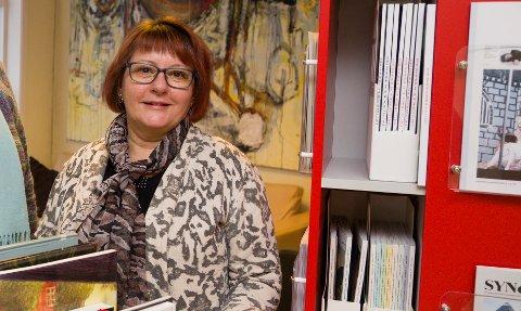 LITTERATURKAFÉ: Elin Sandsether er ledere av denne ukas litteraturkafe på bibliotekene i Røyken.