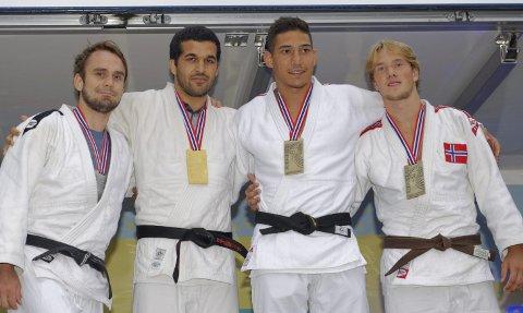 Bronse: Kornelius Eilertsen helt til høyre i bilde med delt bronsemedalje.