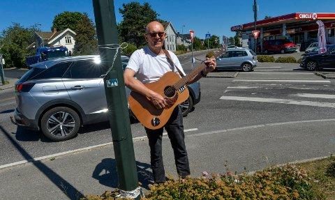 BIG APPLE: For musiker TK Bøe er det bare en bydel og ett kryss som betyr noe her i verden.