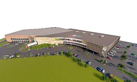 STØRRE: Slik presenteres en utvidelse av Amfi Borg i dag. Utvidelsen er bygd helt sammen med dagens kjøpesenter, og er betydelig større enn det som ble presentert i august–september.