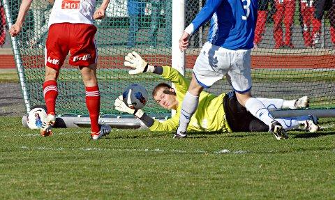 SPILTE FOR ASKIM: Kamil Rylka var keeper i Askim FK i perioden 2012 til 2015. Her i cupkamp mot Fredrikstad i 2012.