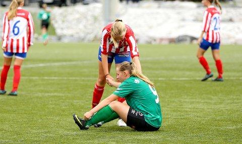 PÅ VEG VEKK: Kaupanger-toppscorar Miriam Vilnes Mjåseth ser seg om etter nye utfordringar.
