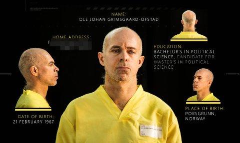 Gissel: Porsgrunnsmannen Ole Johan Grimsgaard-Ofstad (48) skal være tatt til fange av IS i Syria.Faksimile: Magasinet Dabiq
