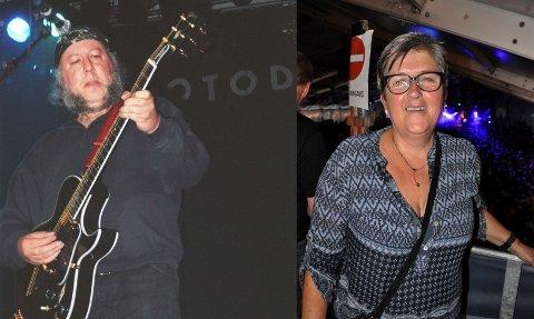 LEGENDEMØTE: Aud Hegna Finnekåsa fikk seg en helt spesiell opplevelse som festivallederen under Bluesfestivalen i 1996. Selveste Peter Green gikk inn dørene på Bellman, under den interne festen for festivalarbeiderne under avslutningsdagen.