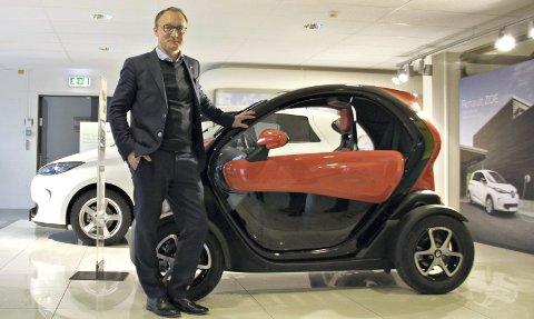 I FRAMGANG: Etter flere magre år i Norge er Renault på vei oppover. Nils-Henrik Holmen tok over som administrerende direktør mot slutten av 2016, da han kom fra Jaguar Land Rover.