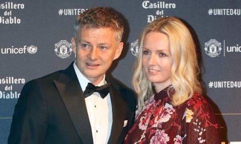 Ole Gunnar Solskjær og kona Silje under en gallamiddag på Old Trafford tidligere i år.
