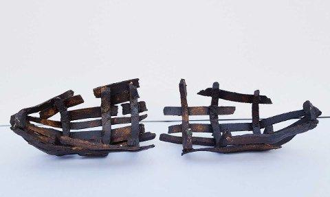 """Skulpturen """"Rodd fiske"""" av Christin Løkke skal lages for uterom og skal plasseres i havgapet i Bø kommune."""