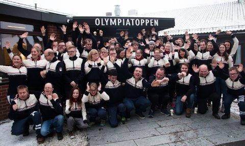 TROPPEN: Hele den norske Special Olympics-troppen samlet i Oslo.