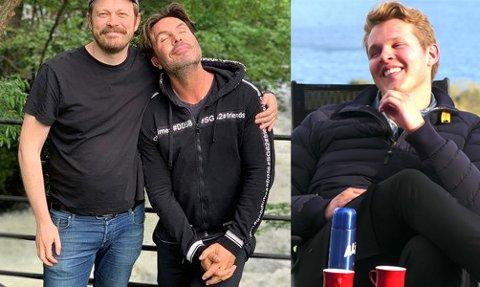 TOPP FEM: Einar Tørnquist, Jan Thomas og Vegard Harm ligger på topp fem over de mest populære podkastene i Norge.