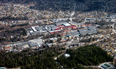 Raufoss industripark har mange bedrifter inne på lista. Arkivbilde