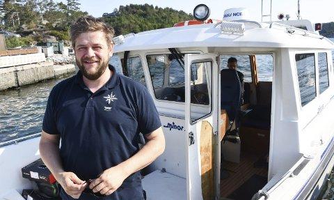 Ragnar Gustavsen er ansatt i Sørlandets Maritime, og er en av dem som vil kjøre taxibåt i sommer.