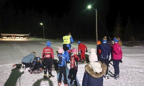 Fyrste rennet: Vestre Slidre idrettslag arrangerte sesongens fyrste klubbrenn på Eggeåsen torsdag kveld.