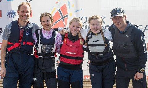 SOON: Lagbilde til Soon. Til helgen stiller man med disse fire seilerne i Bodø:  Knut Gudmund Carlsen, Peder Somgedal, Øyvind Solbakken ogTorgeir Moringen.