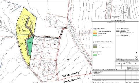 REGULERING: Slik vil Fiks Eiendom AS få omregulert området ved Kjølstadhøgda.