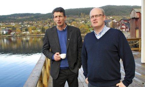 Sittende ordførere: Peder Aasprang (t.v.) og Ståle Refstie får velgernes dom mandag 14. september.