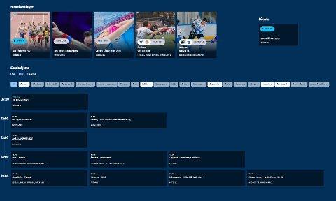 TETTPAKKET: Helgas sportsmeny inneholder et heftig utvalg av direktesendt sport.