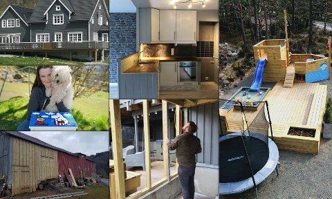 SMAKEBIT: Her ser man bilder fra noen av prosjektene.