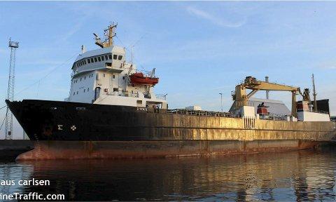 En mulighet: Denne typen fartøy kan bli løsningen for en ny konteinerrute fra Bodø. Prosjektleder Robert Melum understreker at bildet illustrerer et mulig fartøy som er egnet for en slik operasjon. Foto: Marine Traffic